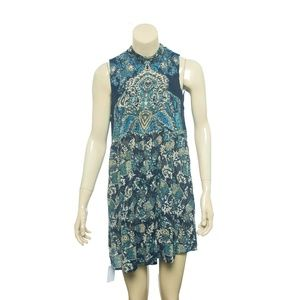 Free People Lady Luck Tunic Dress Tie Sleeveless S